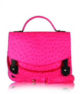 Flying Scissors Moonlight Crossbody shoulder bag in electric pink