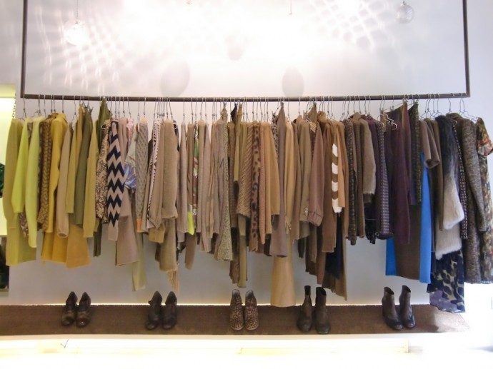 Racks and racks of fashion finds at Wait and See Boutique