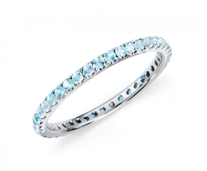 Aquamarine Eternity Ring (image source: BlueNile.com)