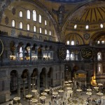 Inside the iconic Haghia Sophia in Istanbul Turkey
