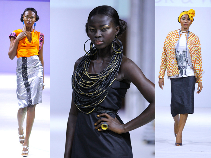 (L-R): Ajepomaa Design Gallery, Emefa Cole Jewellery, Tuedor and Wright at Ghana Fashion & Design 2013