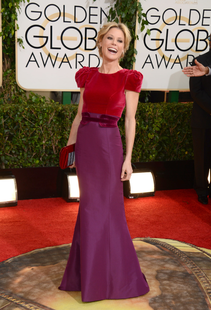 Julie Bowen in Carolina Herrera at the 2014 Golden Globe Awards for her nominated show, Modern Family