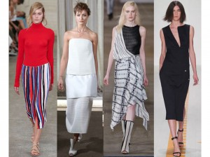 L-R: Dion Lee II, Ellery, Bec & Bridge and Christopher Esber Spring/Summer 2014 at Mercedes-Benz Fashion Week Australia