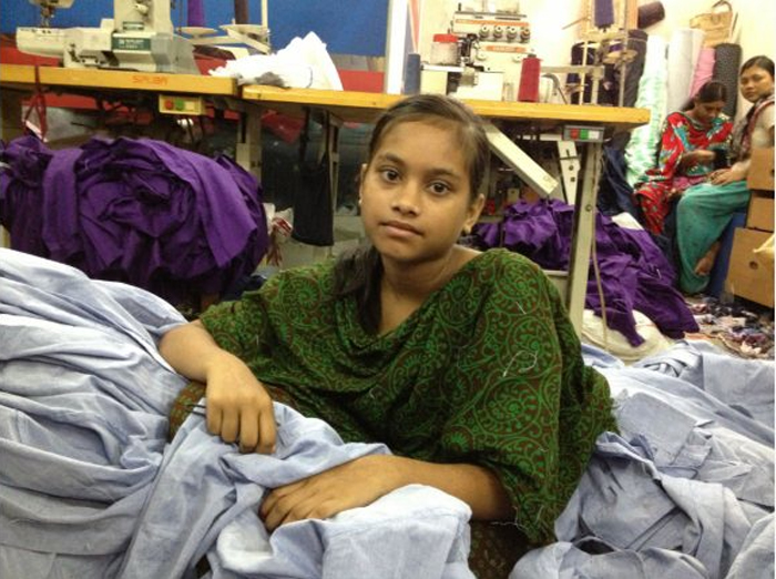 Taaniya, 13, has been working for a few years. She was Meem's friend at the sweatshop and gave the 9-year-old tips, including which sewing operators to avoid. (Courtesy of Raveena Aulakh / The Toronto Star)