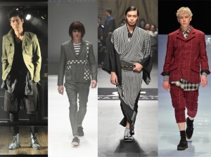 L-R: Coté Mer; Patchy Cake Eater, Jotaro Saito & Kidill at Mercedes-Benz Fashion Week Tokyo Fall/Winter 2014