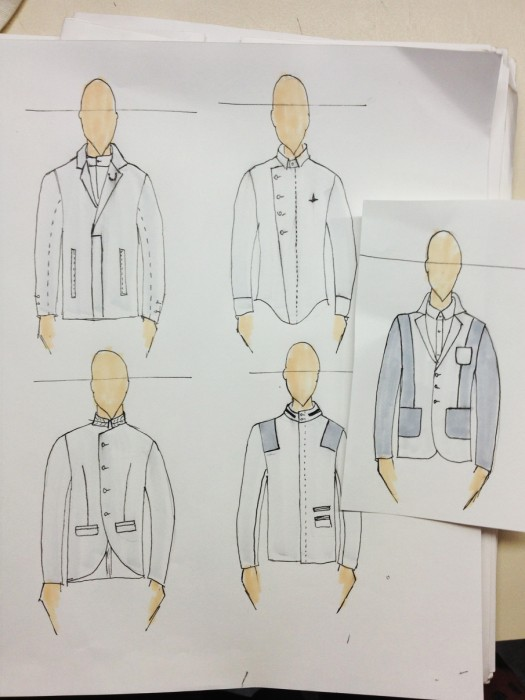Sketches by fashion designer and Emerging Designer Menswear Award finalist  Joao Paulo Guedes