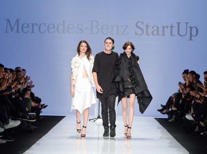 Designer Sid Neigum at World Mastercard Fashion Week Toronto